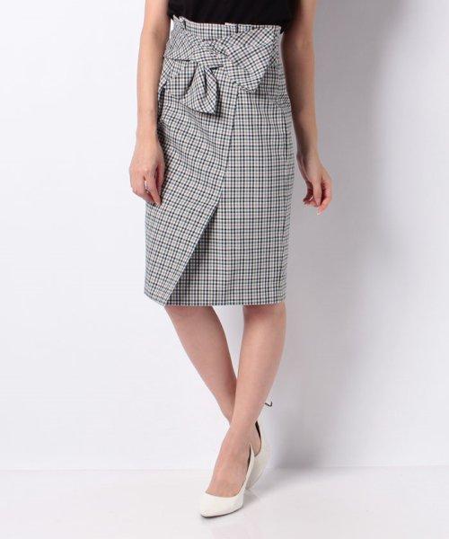 JUSGLITTY(ジャスグリッティー)/リボン付チェックタイトスカート/48338240