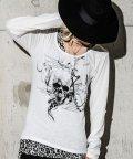 BERNINGS-SHO/Bernings Sho【バーニングショー】スカル長袖Tシャツ&総柄タンクトップレイヤード2Pセット/501081340