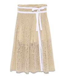 Lily Brown/フロッキーラップ風スカートパンツ/501082184