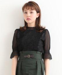 MAJESTIC LEGON/レーシー袖シアートップス/501011989