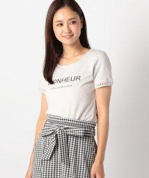 MISCH MASCH/袖パールロゴTシャツ/501030183