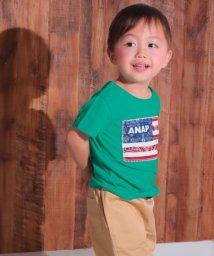 ANAP KIDS/国旗アップリケTシャツ/501072418