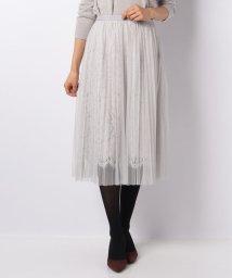 Rirandture/レース透け刺繍プリーツスカート/501079175