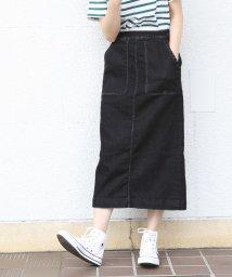coen/【大人気・新色追加】デニムストレッチタイトロングスカート/500695964