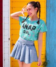 ANAP GiRL/ロゴネオン柄BIGTシャツ/501080715