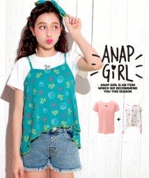 ANAP GiRL/オリジナルシェル柄Tシャツ&キャミトップス SET/501080717