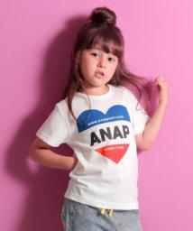 ANAP KIDS/ハート配色ロゴTシャツ/501080724