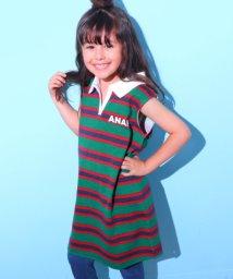 ANAP KIDS/ラガーシャツワンピース/501080726