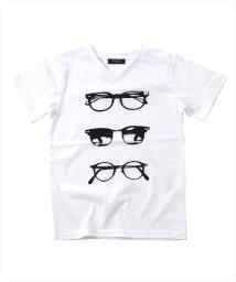 GLAZOS/防臭加工メガネモチーフ半袖Tシャツ/501083237