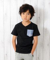 GLAZOS/デニムデザインポケット半袖Tシャツ/501083241