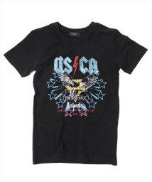 GLAZOS/ロック風デザイン半袖Tシャツ/501083242