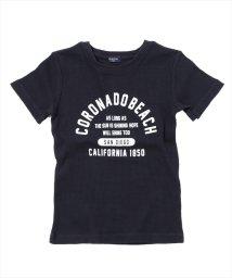 GLAZOS/ワッフル・ロゴプリント半袖Tシャツ/501083244