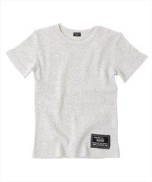 GLAZOS/ワッフル・ベーシック半袖Tシャツ/501083245