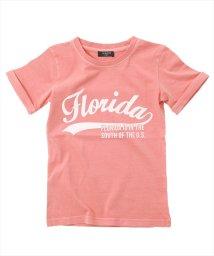 GLAZOS/製品染めロゴデザイン半袖Tシャツ/501083246