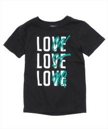 GLAZOS/接触冷感LOVEモチーフ半袖Tシャツ/501083250