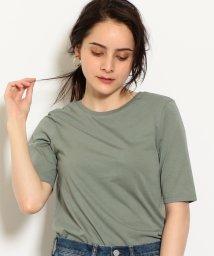 green label relaxing/NFC バックシャン クルーネック 5分袖 カットソー/501084263