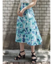 MERCURYDUO/水彩フラワーフレアスカート/501032189