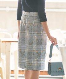 Apuweiser-riche/★【andGIRL/美人百花 10月号掲載】チェックジャガードタイトスカート/501086670