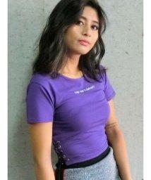 EVRIS/サイドレースアップショートTシャツ/501064356