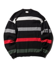 BEAMS MEN/【WEB限定】BEAMS / NEW STANDARD ルーズ ボーダーニット/501089785