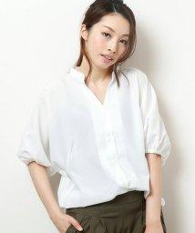 framesRayCassin/麻風ポリエステル前ボタンシャツ/501089946