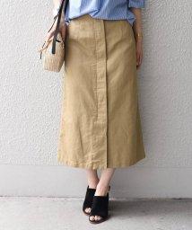 SHIPS WOMEN/フライフロントスカート/501090120