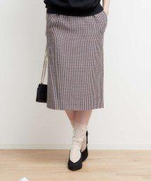 Rouge vif la cle/【MICA&DEAL】タック入りチェックタイトスカート【予約】/501090485