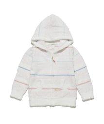 gelato pique Kids&Baby/'スムーズィー'マルチボーダー baby パーカ/501090913