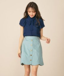 MIIA/裾スカラップ台形スカート/501081327