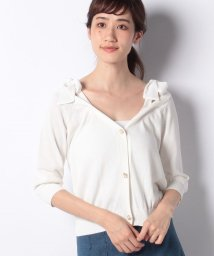 MIIA/肩リボン7分袖カーディガン/501081330