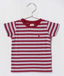 LAGOM/ボーダーすいか刺繍Tシャツ/501069856