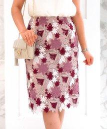 Noela/Autumnカラーレースタイトスカート/501081304