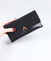 miniministore/かぶせ長財布 レディース 薄い財布 小銭入れ ロングウォレット カード入れ 薄型/501092281