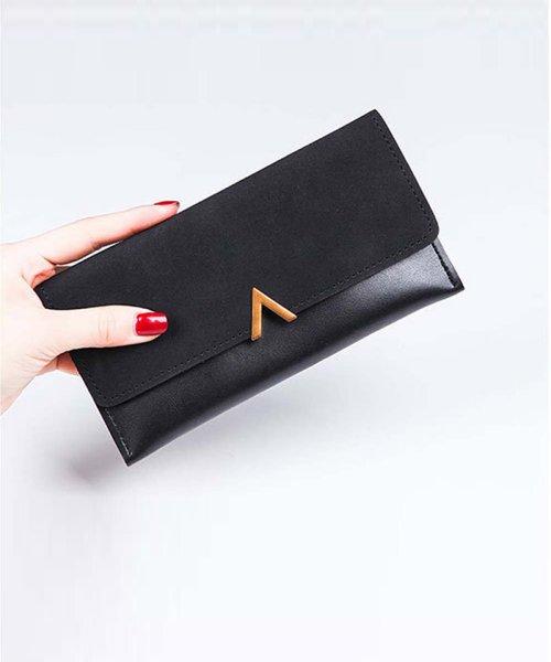 f917b42df9f2 miniministore(ミニミニストア)/かぶせ長財布 レディース 薄い財布 小銭入れ ロングウォレット