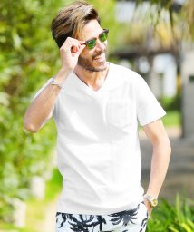 JIGGYS SHOP/Vネックポケット付き消臭機能半袖Tシャツ / 無地 Tシャツ メンズ ポケットtシャツ 綿100% 胸ポケット/501092541