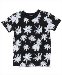 GLAZOS/パーム総柄半袖Tシャツ/501092573