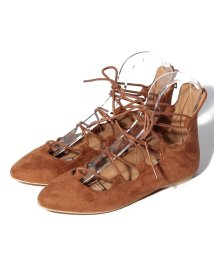 NICE CLAUP OUTLET/【natural couture】レースアップペタ/501089931