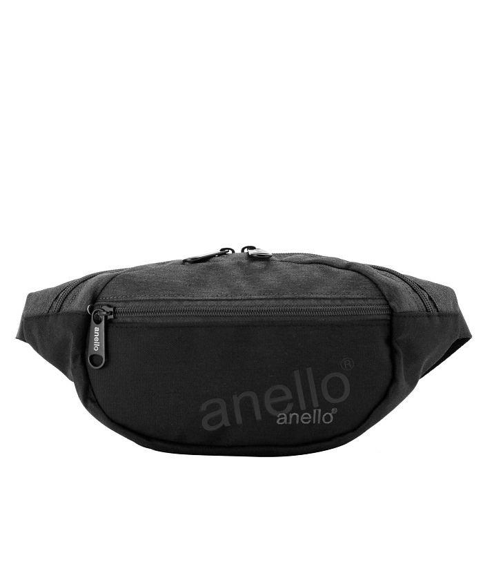 アネロ anello AT−S0341 杢調ポリエステルWネームミニウエストポーチ