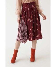 JILLSTUART/TVドラマ着用◆フラワーチェックドッキングスカート/501093060