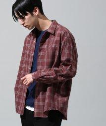 JUNRed/チェックリラックスシャツ/501093235