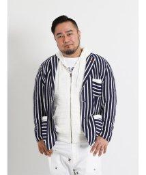 GRAND-BACK/【大きいサイズのメンズ服・グランバック】ブークレーストライプ柄ジャケット/501095223