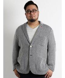 GRAND-BACK/【大きいサイズのメンズ服・グランバック】ザックリニットソフトジャケット/501095224