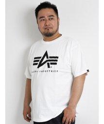 GRAND-BACK/【大きいサイズのメンズ服・グランバック】ALPHA Aマークプリント半袖Tシャツ/501095342