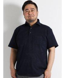 GRAND-BACK/【大きいサイズのメンズ服・グランバック】ALEXANDER JULIAN リンクスリーフ柄ワイドカラーポロシャツ/501095356