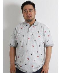 GRAND-BACK/【大きいサイズのメンズ服・グランバック】POLO DRY総柄プリント半袖ポロシャツ/501095369