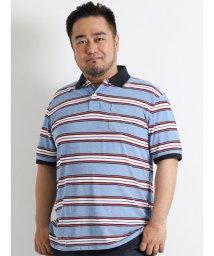 GRAND-BACK/【大きいサイズのメンズ服・グランバック】POLO 鹿の子ボーダー半袖ポロシャツ/501095370