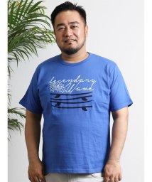 GRAND-BACK/【大きいサイズのメンズ服・グランバック】綿100%天竺クルーネック半袖プリントTシャツ/501095385