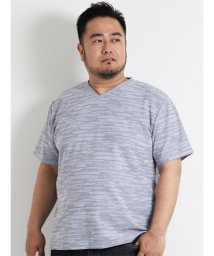GRAND-BACK/【大きいサイズのメンズ服・グランバック】MIXタックボーダーVネック半袖Tシャツ/501095395