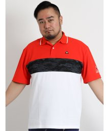 GRAND-BACK/【大きいサイズのメンズ服・グランバック】lecoqsportif GOLF クラックパネルプリントピケ半袖ポロシャツ/501095418