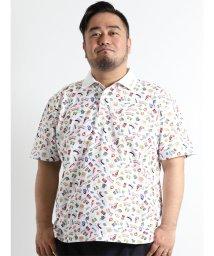 GRAND-BACK/【大きいサイズのメンズ服・グランバック】VAGIIE プリント鹿の子半袖ポロシャツ/501095432